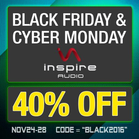 40% OFF BLACK FRIDAY – CYBER MONDAY 2016